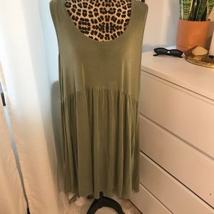 forest green cotton dress